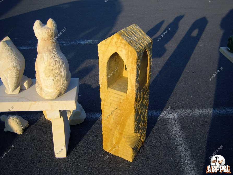 Sandsteins ule mit muster for Figuren aus sandstein